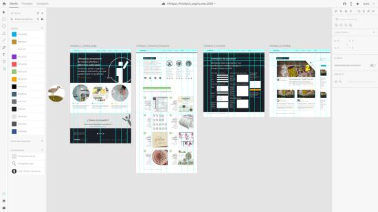 Prototipado de alta fidelidad de la nueva página web de Infotipos.