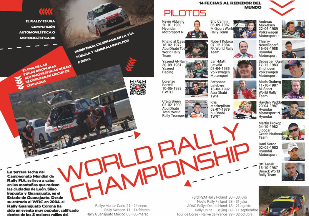 World Rally Championship: Pilotos y fechas