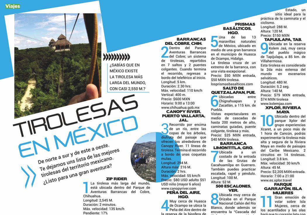 Tirolesas extremas en México