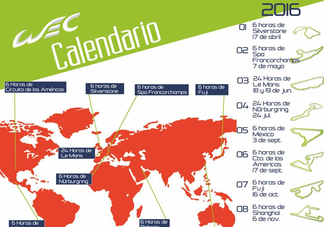 Conociendo la WEC: Calendario 2016