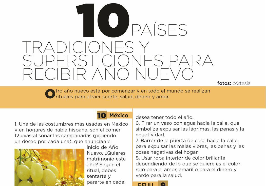 10 países: tradiciones y supersticiones para recibir año nuevo