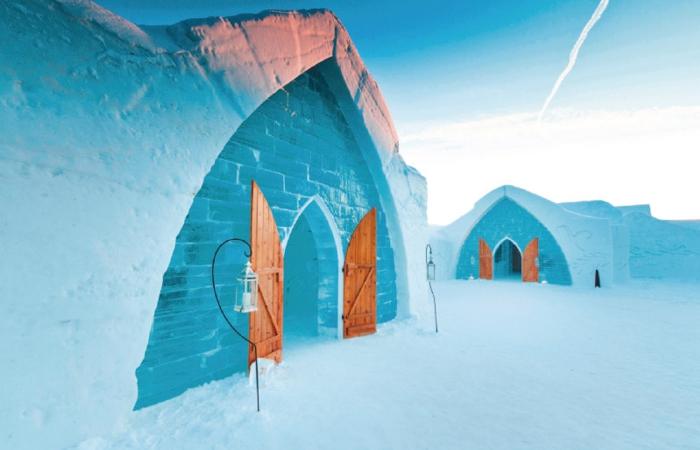 De Glace, hotel de hielo en la región de Quebec