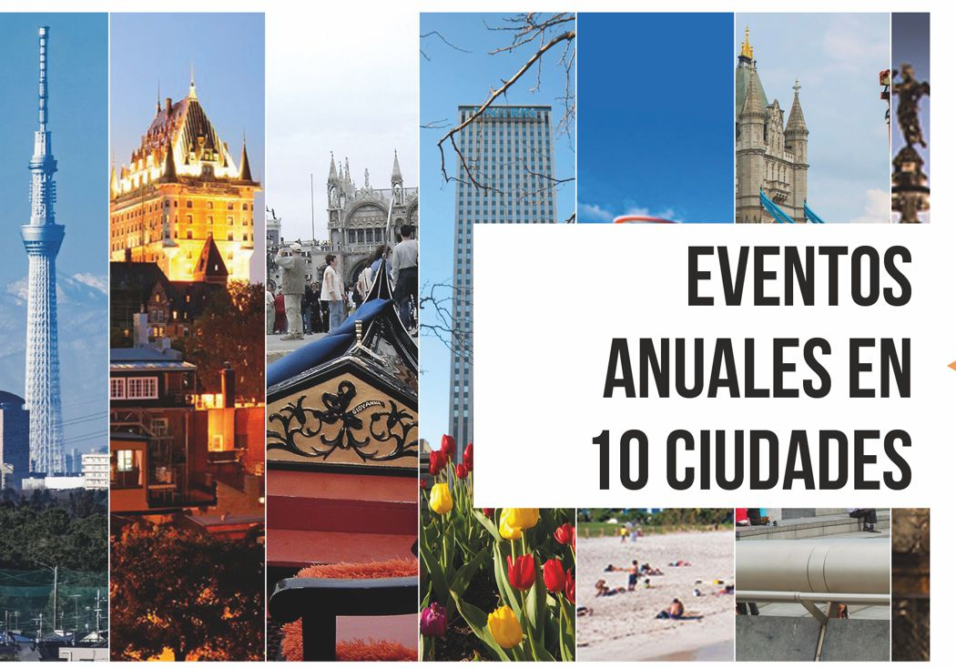 Eventos Anuales en 10 Ciudades