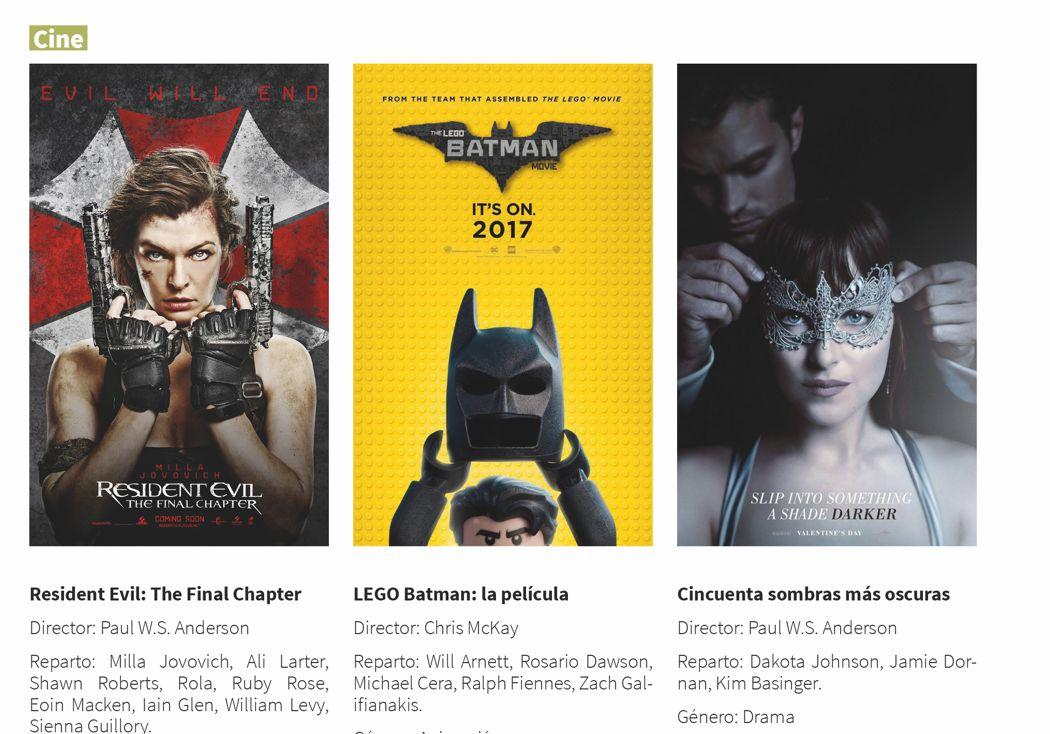 3 próximos grandes estrenos en cine: febrero
