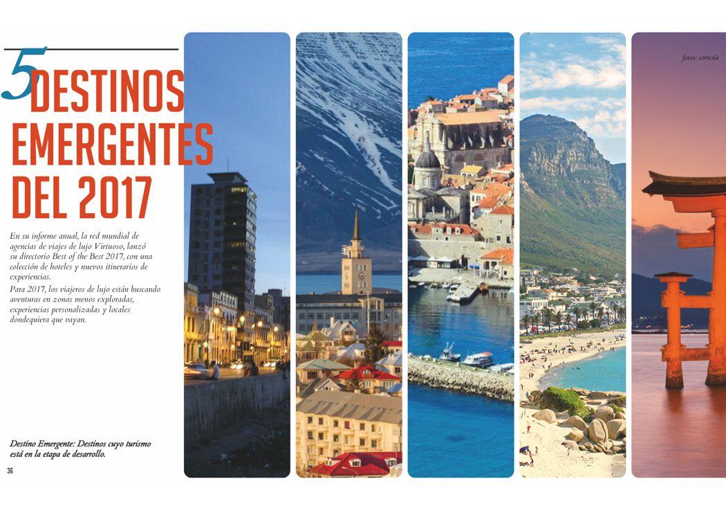 5 destinos emergentes del 2017