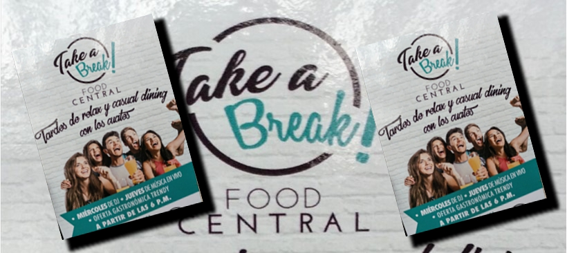 "¿Estrés?, ""Take a break"" en Food Central Miyana"
