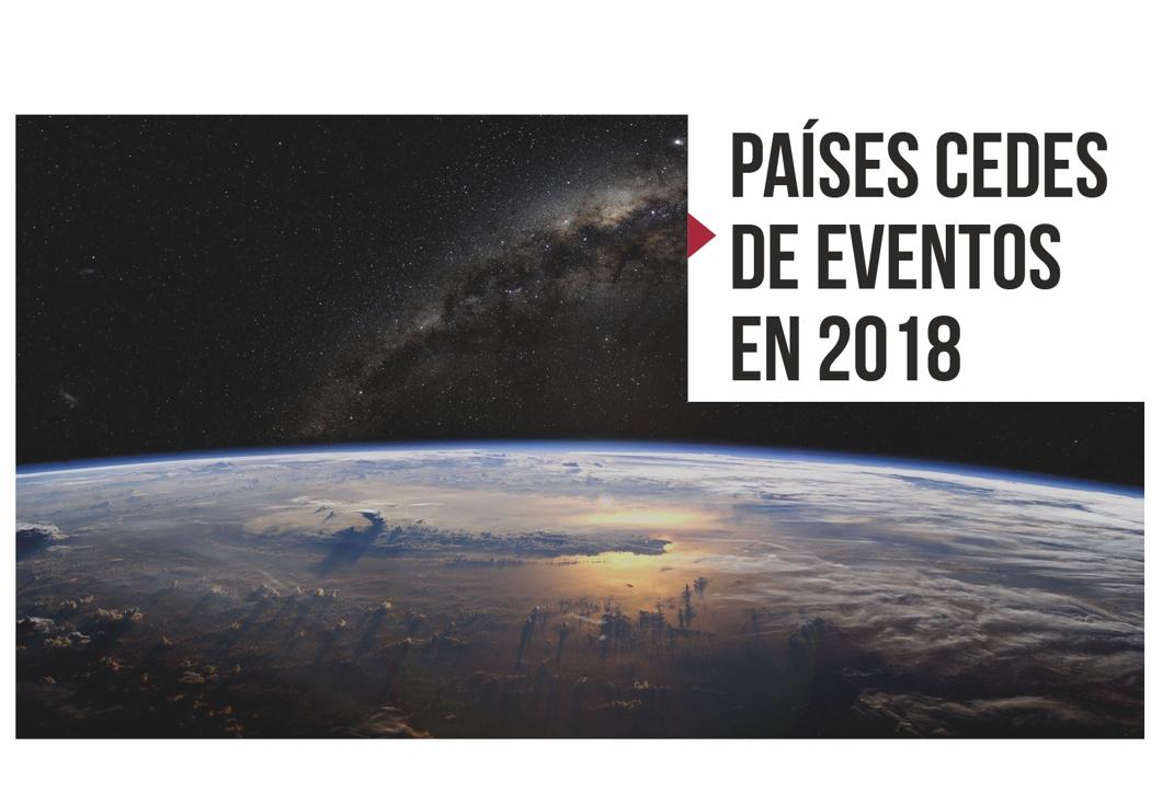 Países cedes de eventos en 2018