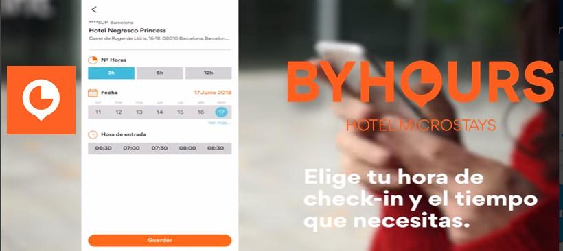 BYHOURS, APP que te ofrece estancias por 3, 6 y 12 horas en los mejores hoteles
