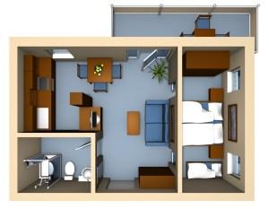 Strandhaus Grundriss Typ 1