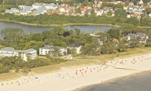Luftaufnahme Strand - Strandhaus Aurell