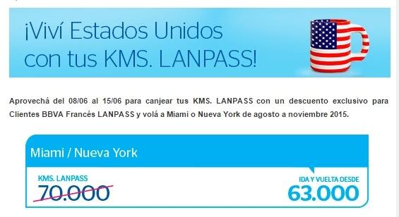 Descuento LANPASS USA 201506