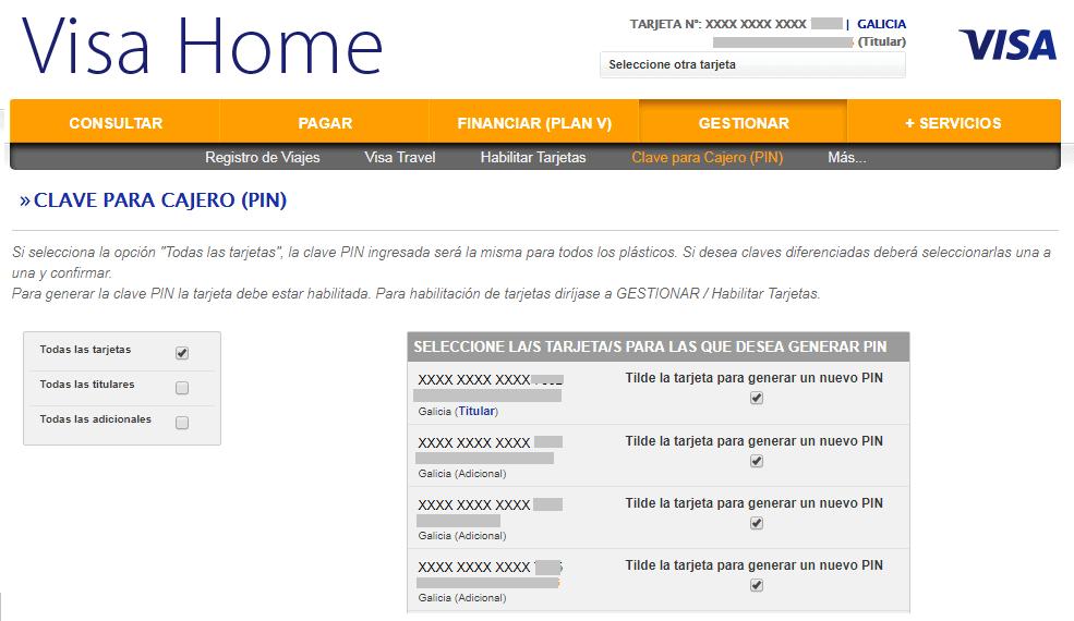 Visa volvi a habilitar la solicitud de pin para cajeros - Habilitar visa debito para el exterior ...