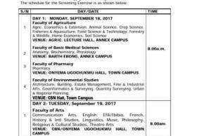 Uniuyo Screening Form 2017