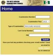 Check WAEC Result