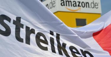 Das Archivfoto zeigt den Amazon-Standort inBad Hersfeld. Foto: Uwe Zucchi/dpa