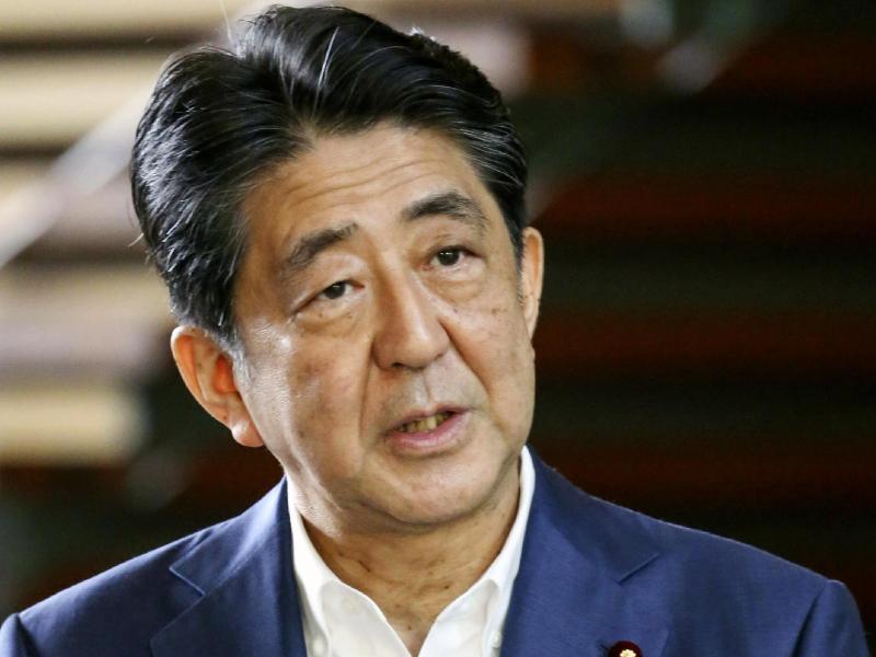 Japans Premierminister Shinzo Abe tritt aus gesundheitlichen Gründen zurück. Foto: Uncredited/Kyodo News/AP/dpa