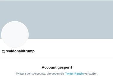 Twitter-Sperre Donald Trump - Screenshot