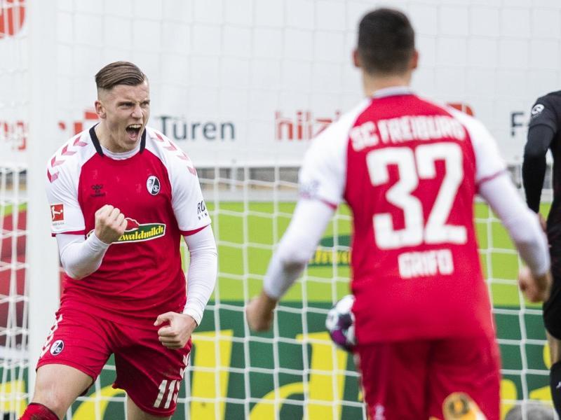 Nach zuvor zwei sieglosen Spielen konnte sich Freiburg gegen Stuttgart durchsetzen. Foto: Tom Weller/dpa