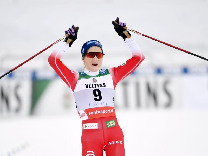 Ist nicht mehr so dominant wie noch im vergangenen Jahr: Therese Johaug aus Norwegen. Foto: Markku Ulander/Lehtikuva/dpa