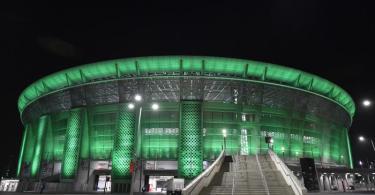 In Budapest in der Puskas Arena trifft Borussia Mönchegladbach auf Manchester City. Foto: Marton Monus/dpa