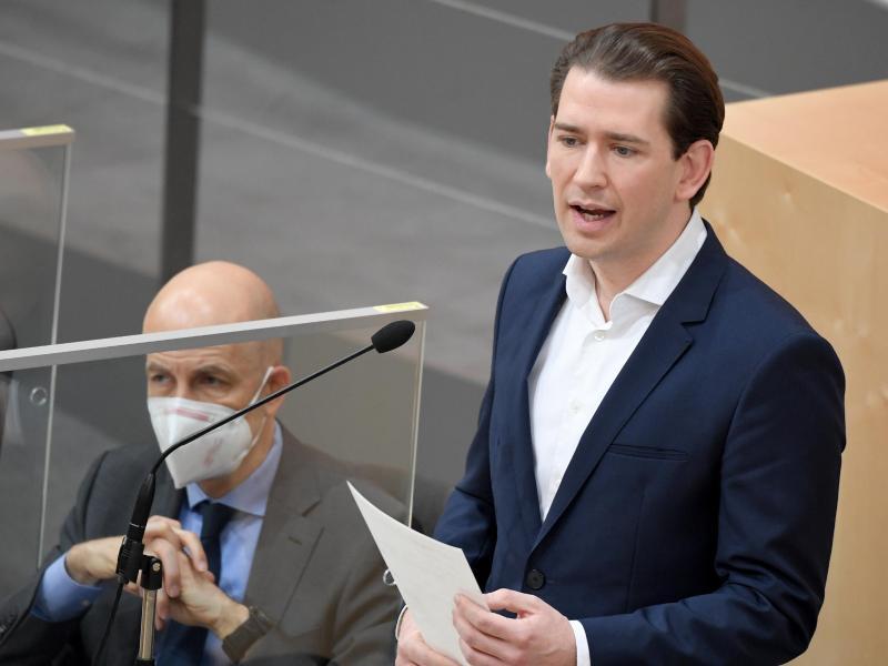 Sebastian Kurz, Bundeskanzler von Österreich, spricht sich für einen europäischen Impfpass nach dem Vorbild Israels aus. Foto: Roland Schlager/APA/dpa