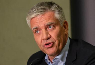 Frank Steffel, Präsident der Füchse Berlin und CDU-Sportpolitiker. Foto: Andreas Gora/dpa