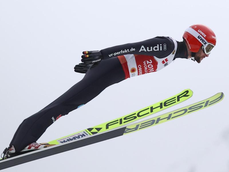Dritter in der Qualifikation für die Großschanze: Markus Eisenbichler. Foto: Daniel Karmann/dpa