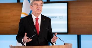 Bleibt weitere vier Jahre IOC-Präsident: Thomas Bach. Foto: Greg Martin/IOC/dpa