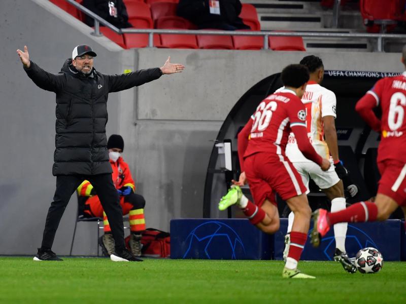 Gestenreich: Liverpool-Trainer Jürgen Klopp (l). Foto: Marton Monus/dpa