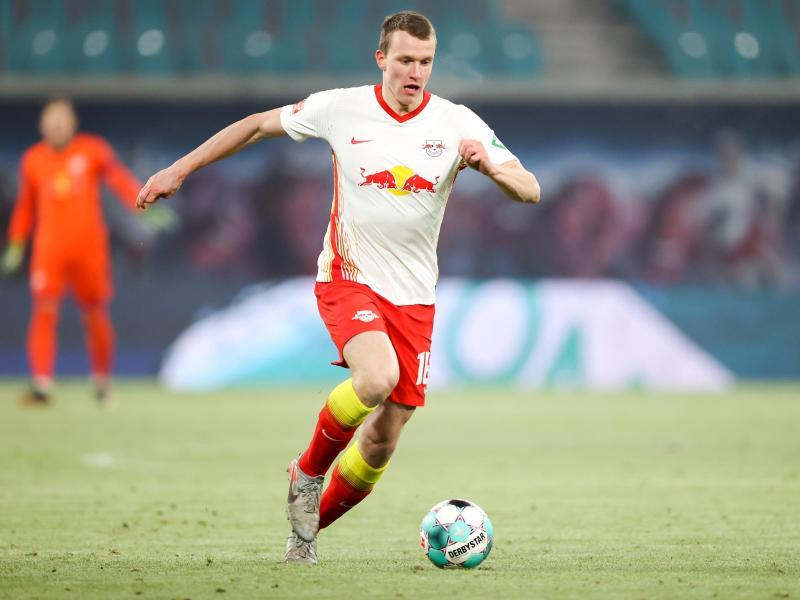 Lukas Klostermann absolviert sein 100. Bundesligaspiel für Leipzig. Foto: Jan Woitas/dpa-Zentralbild/dpa