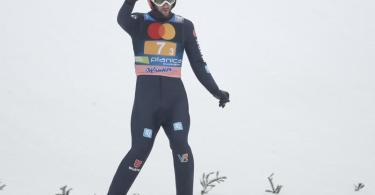 Siegte mit Deutschlands Skisprung-Assen in Planica: Markus Eisenbichler. Foto: Uncredited/AP/dpa
