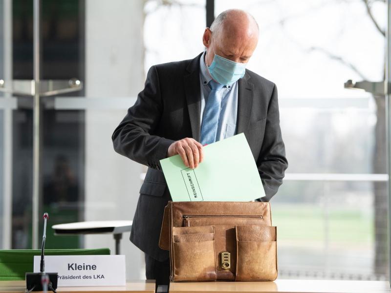 Der sächsische LKA-Präsident Petric Kleine. Foto: Sebastian Kahnert/dpa-Zentralbild/dpa