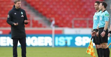 Werder-Trainer Florian Kohfeldt nach der Partie in Stuttgart. Foto: Tom Weller/dpa