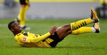 Der BVB muss den Rest der Saison auf Youssoufa Moukoko verzichten. Foto: Marius Becker/dpa-Pool/dpa