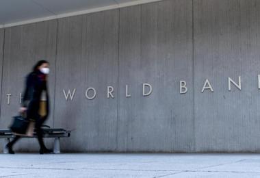 Das jährliche Frühjahrstreffen der Weltbank und des Internationalen Währungsfonds (IWF) findet wegen der Pandemie zum zweiten Mal hauptsächlich online statt. Foto: Andrew Harnik/AP/dpa