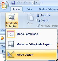Acessando o Modo Design