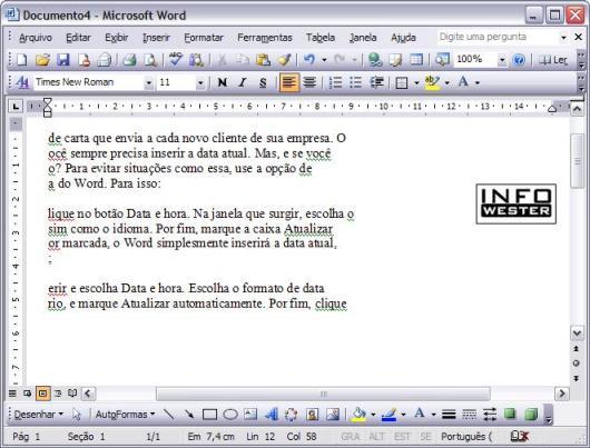 Seleção avançada de texto no Word
