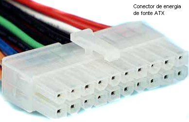 Conector para placa-mãe de fonte ATX
