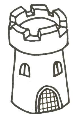 Turm Malvorlage Ritter Wehrturm Ausmalbild