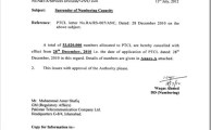 PTA Cancelled 59.6 Million Numbers of PTCL