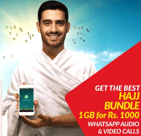 Jazz Offers Hajj Bundle of 1GB Data for Rs  1000 including WhatsApp