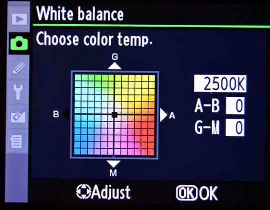 nikon fotoğraf makinesi beyaz dengesi ayarı menüsü