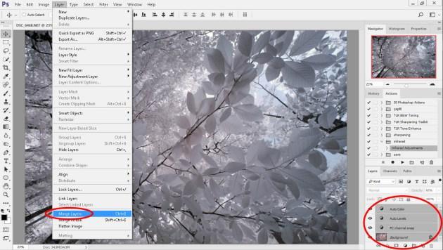 Adobe photoshop katmanların birleştirilmesi