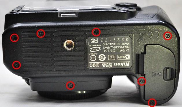 Nikon D90 Taban kapağı