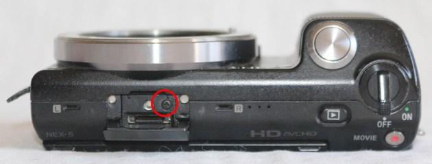 Sony Nex-5 Üst