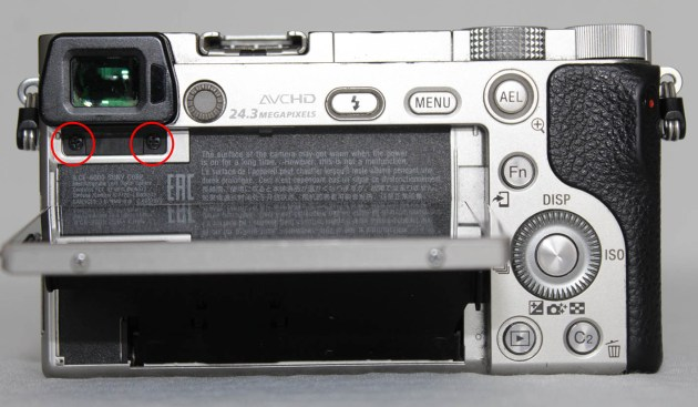 sony a6000 viewfinder replacing