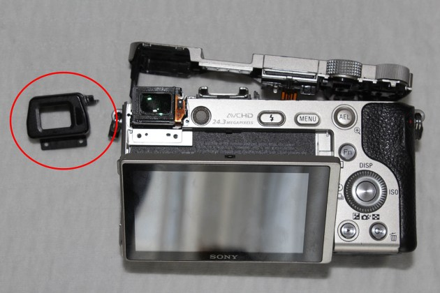 sony a6000 viewfinder cover