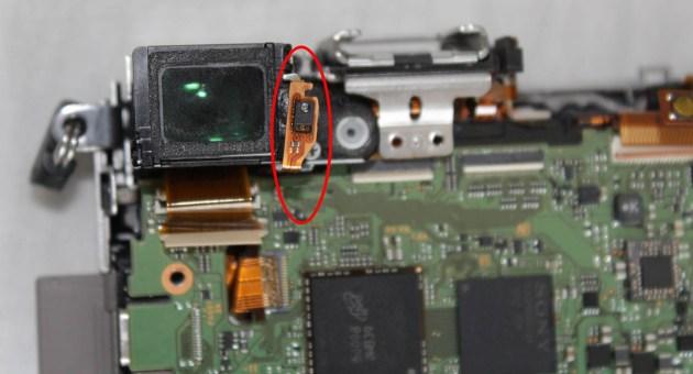 viewfinder proximity sensor