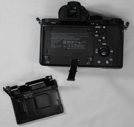 a7ii lcd panel remove replacement