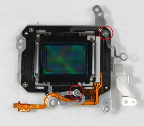 canon 650d sensor screws